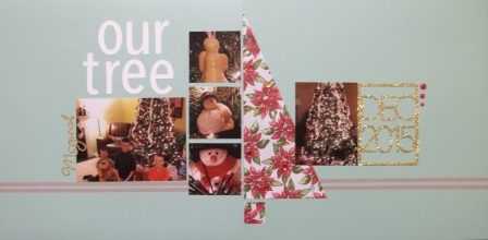 Christmas Tree Scrapbook pages