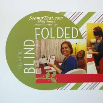 Stamping Blindfolded Scrapbook Layout
