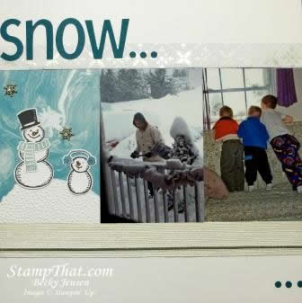Scrapbooking with Snow Place Stamp Set