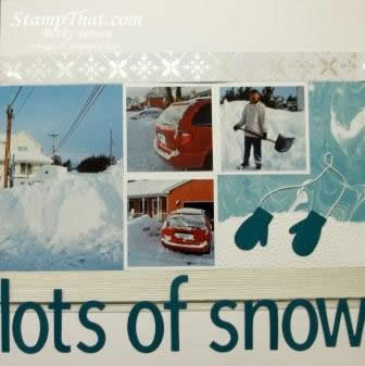 Snowy scrapbook pages