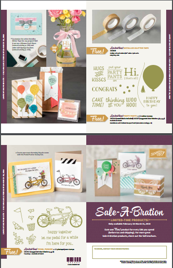 Sale-A-Bration freebies