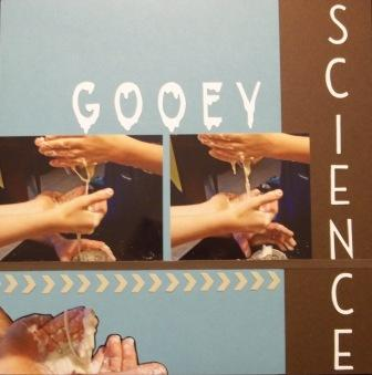 Science Experiment scrapbook layout