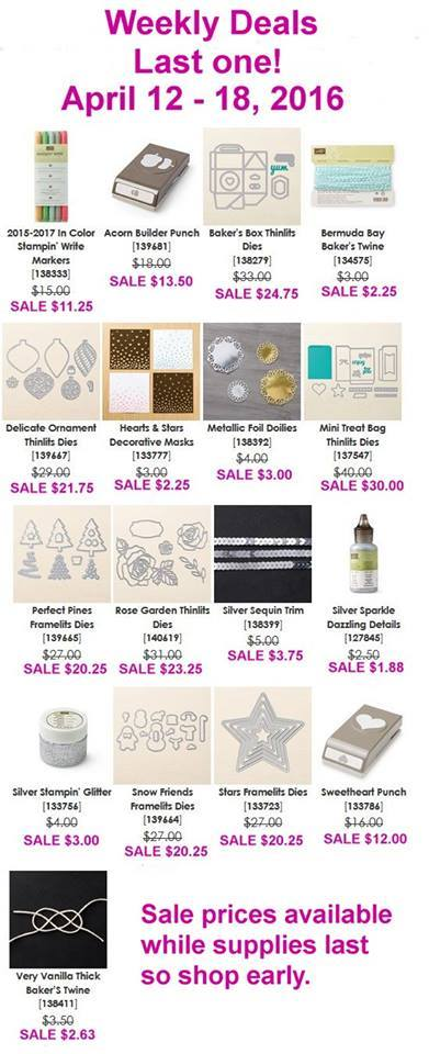 April 12-18 Stampin' Up! Sale
