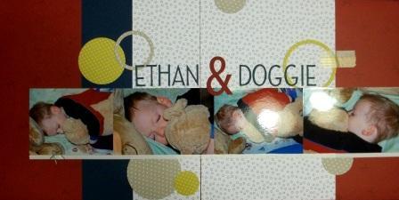Stuffed Dog Scrapbook page