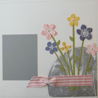 Flower scrapbook layout