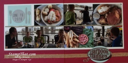 Food scrapbook pages