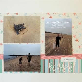 beach scrapbook pages