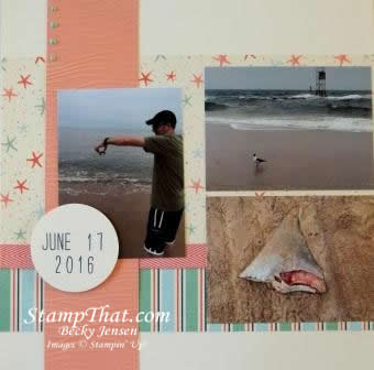 Seashore scrapbooking