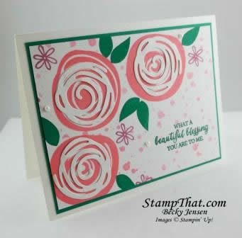 Swirly Bird Flower Card