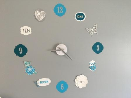 Handmade Stampin' Up! Clock