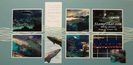Shark scrapbook pages