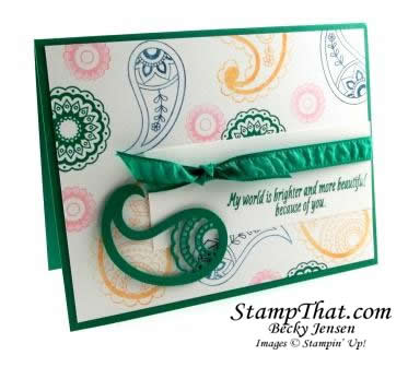 Stampin' Up! Paisleys