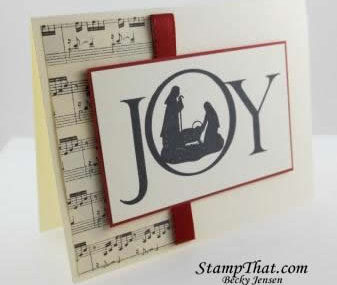 Joyful Nativity Christmas Card