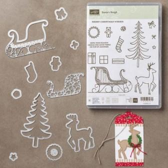 Santa's Sleigh stamp set