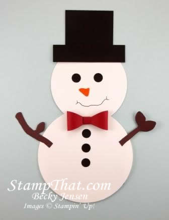 snowman gift card holder - handmade