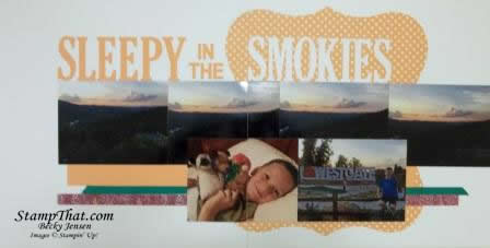 Smokey Mountain scrapbooking