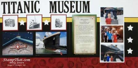 Titanic Museum Scrapbook page