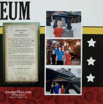 Museum Scrapbook Page