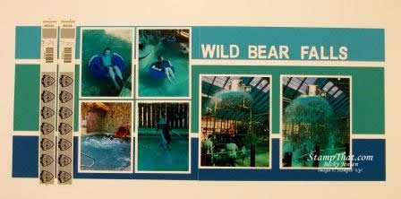 Wild Bear Falls scrapbook pages