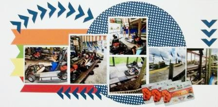 Go-Kart scrapbook pages