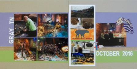 Fossil Museum scarpbooking