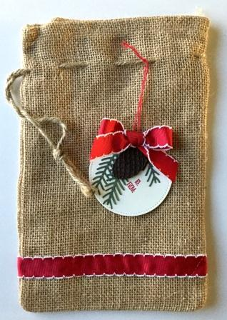 Decorated Burlap Bag
