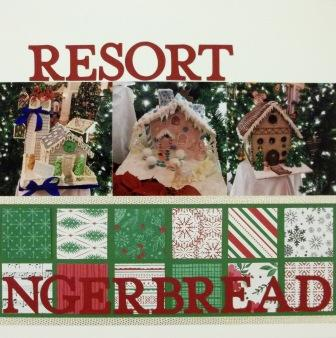 Christmas Gingerbread Scrapbook Layout