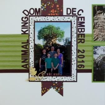 Animal Kingdom scrapbook page