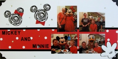 Mickey & Minnie Scrapbook pages