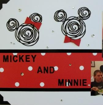 Mickey & Minnie Scrapbook Layout