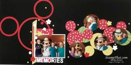 Disney Scrapbook pages