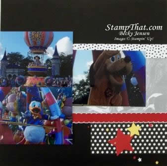 Disney themed scrapbook layout