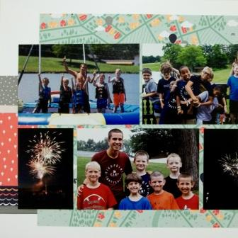 Camp scrapbook pages