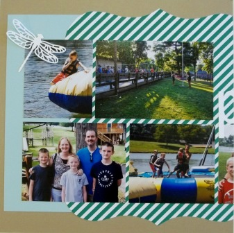 Scrapbook pages for camp