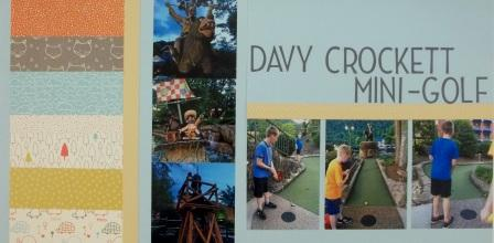 Davy Crockett Mini-Golf Scrapbook Layout