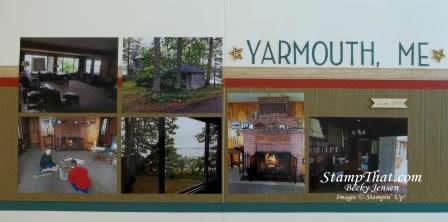 Yarmouth, Maine Scrapbook Layout