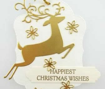 Dashing Deer Canvas Christmas Gift Tag