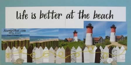 Scrapbooking with Seaside Notions Stamp Set