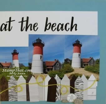 Seaside Notions on Scrapbook Pages