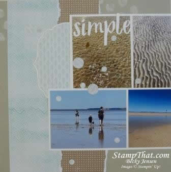 Scrapbooking with Stampin' Up! Product