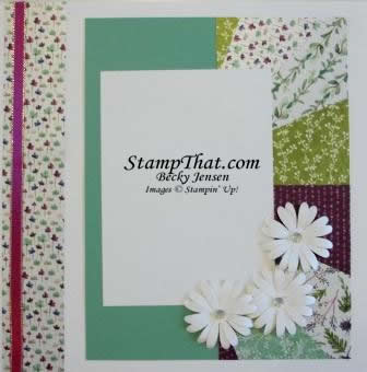 Daisy Scrapbook Page