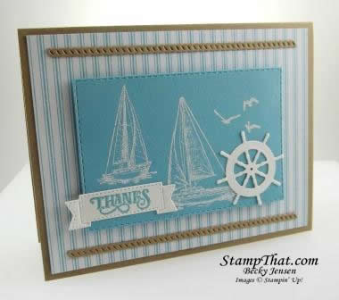 Sailing Home stamp set - no coloring