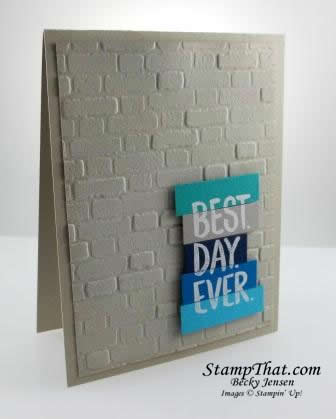 Brick & Mortar Embossing Folder