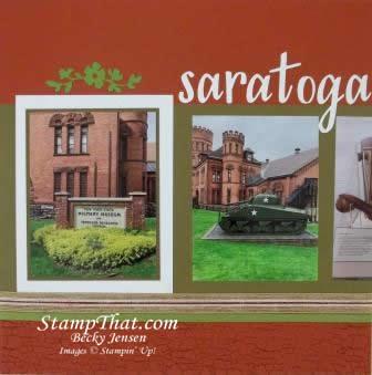 Saratoga Springs scrapbook layout