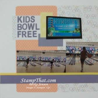 Kids Bowl Free Scrapbook Page