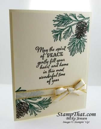 Peaceful Boughs stamp set