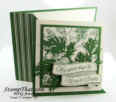Toile Christmas Stamp Set