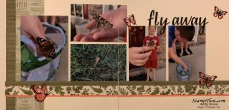 Fly Away Scrapbook Layout