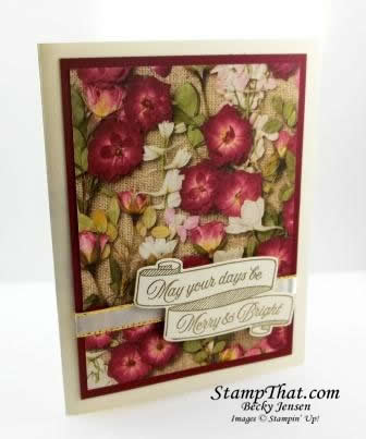 Pressed Petals Christmas Card