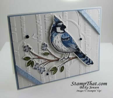 Toile Christmas Blue Jay